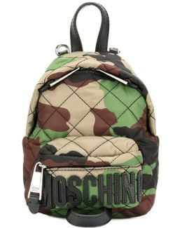 Quilted Camouflage Mini Backpack