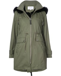 Fur-trim Anorak Coat