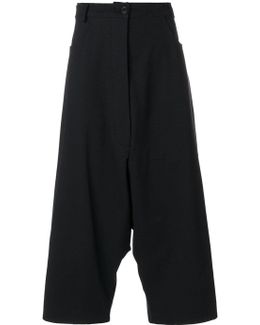 Dropped Crotch Trousers