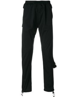 Strapped Drawstring Trousers