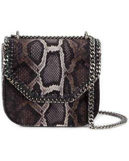 Mini Falabella Box Faux Python Skin Bag