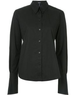 Exaggerated Sleeve Collared Shirt
