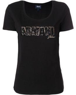 Sequinned Logo T-shirt