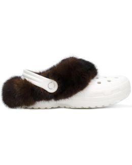 Fur Croc Shoes