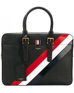 Striped Briefcase