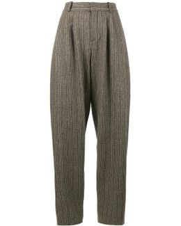 Voluminous Trousers With Front Pleats