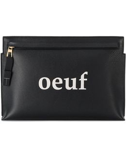Oeuf Leather Pouch
