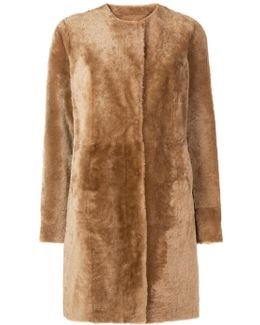 Single-breasted Textured Coat