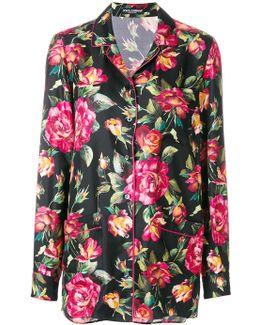 Rose Print Pyjama Shirt