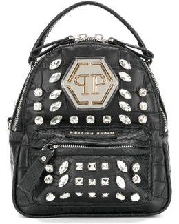 Embellished Rhinestone Mini Backpack