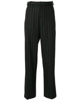 Striped Straight Trousers
