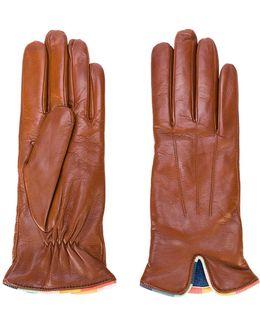Contrast Trim Gloves