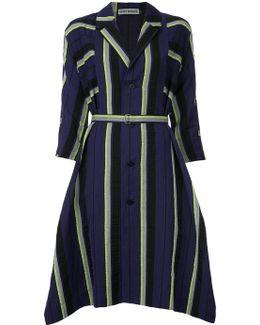 Striped Flared Coat