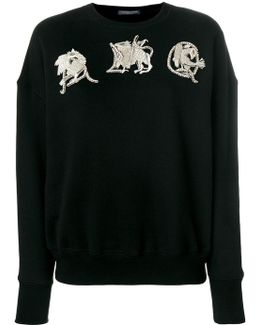 Amq Embroidered Sweatshirt