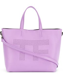 Perforated Logo Shopper Tote
