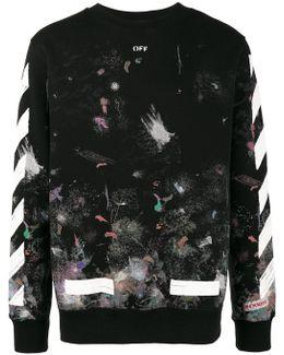 Galaxy Brushed Print Sweatshirt