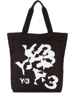 Distorted Logo Tote Bag