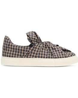 Checked Pattern Sneakers