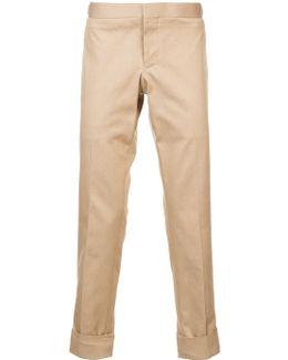 Unconstructed Low Rise Skinny Trouser In Khaki Denim