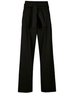 Paperbag Waist Palazzo Trousers