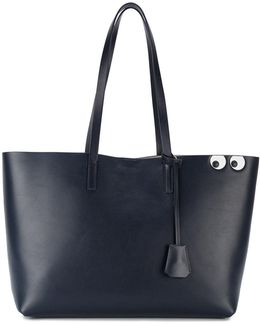 Leather Shopper With Eyes