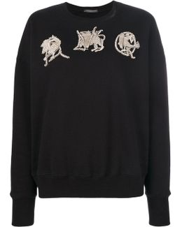 Amq Embroidered Sweatshirt