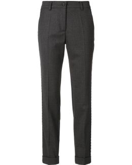 Cropped Side Detail Trousers
