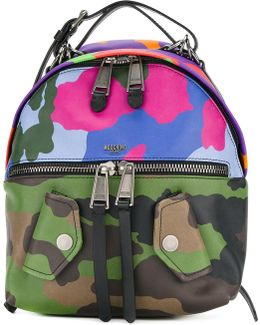 Clashing Camouflage Biker Backpack