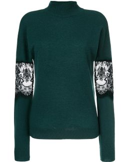 Lace Turtle Neck Sweater