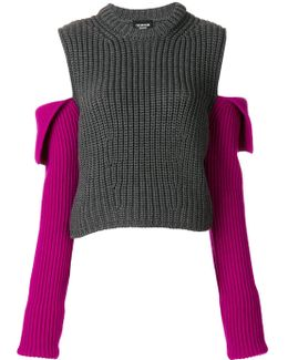 Open Shoulder Knit Jumper