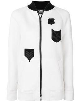 Patch Zipped Sweatshirt