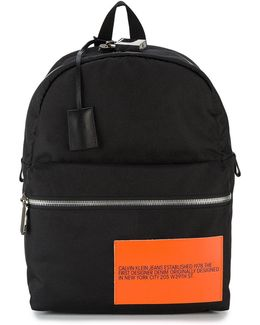 Backpack With Contrasting Patch