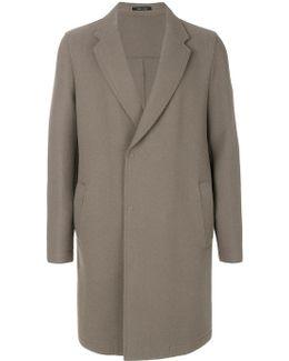 Raw Hem Coat