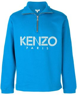 Zipped Funnel Neck Sweatshirt