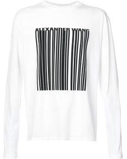 Barcode Graphic Long-sleeved Top
