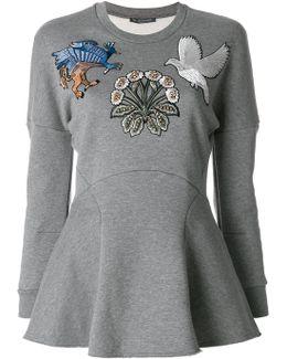 Embroidered Sweatshirt Top