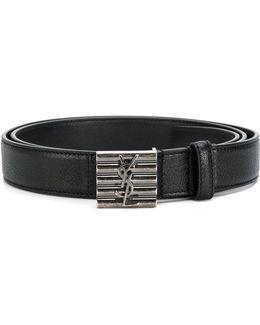 Logo Plate Buckle Belt