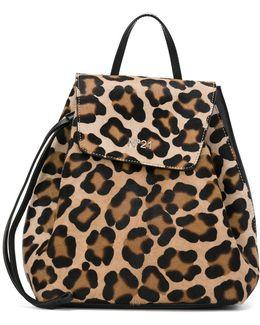 Animal Print Drawstring Backpack