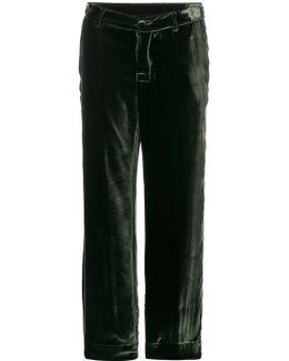 Velvet Texture Pyjama Trousers
