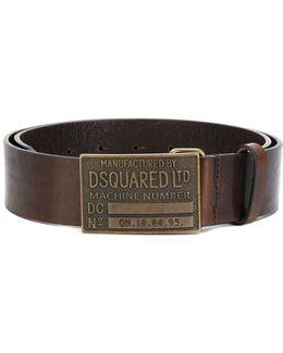 Embossed Metal Buckle Belt