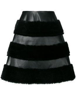Fur Panelled Skirt