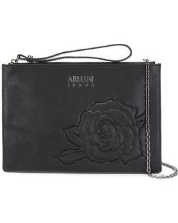 Rose Embossed Clutch Bag