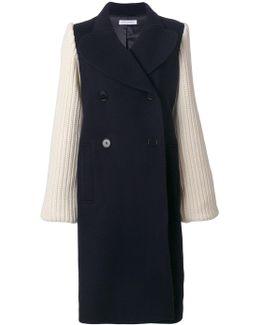 Chunky Knit Sleeve Coat