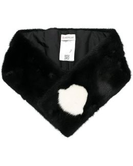 Logo Detail Fur Stole