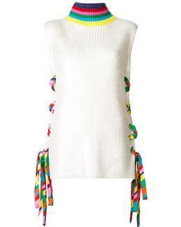 Ribbon Eyelet Sweater