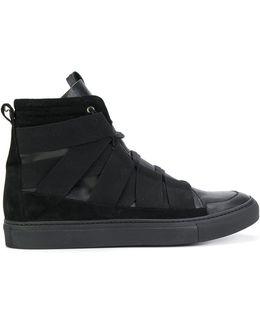 Strap Detail Hi-top Sneakers