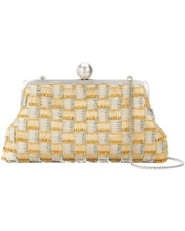 Safety Pin Checked Clutch