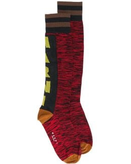 Logo Print Socks