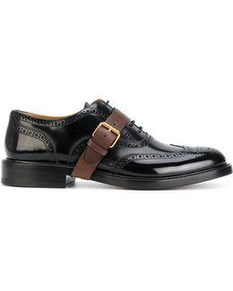 Buckle Strap Derbys Shoes