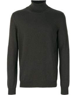 Roll Neck Knit Pullover